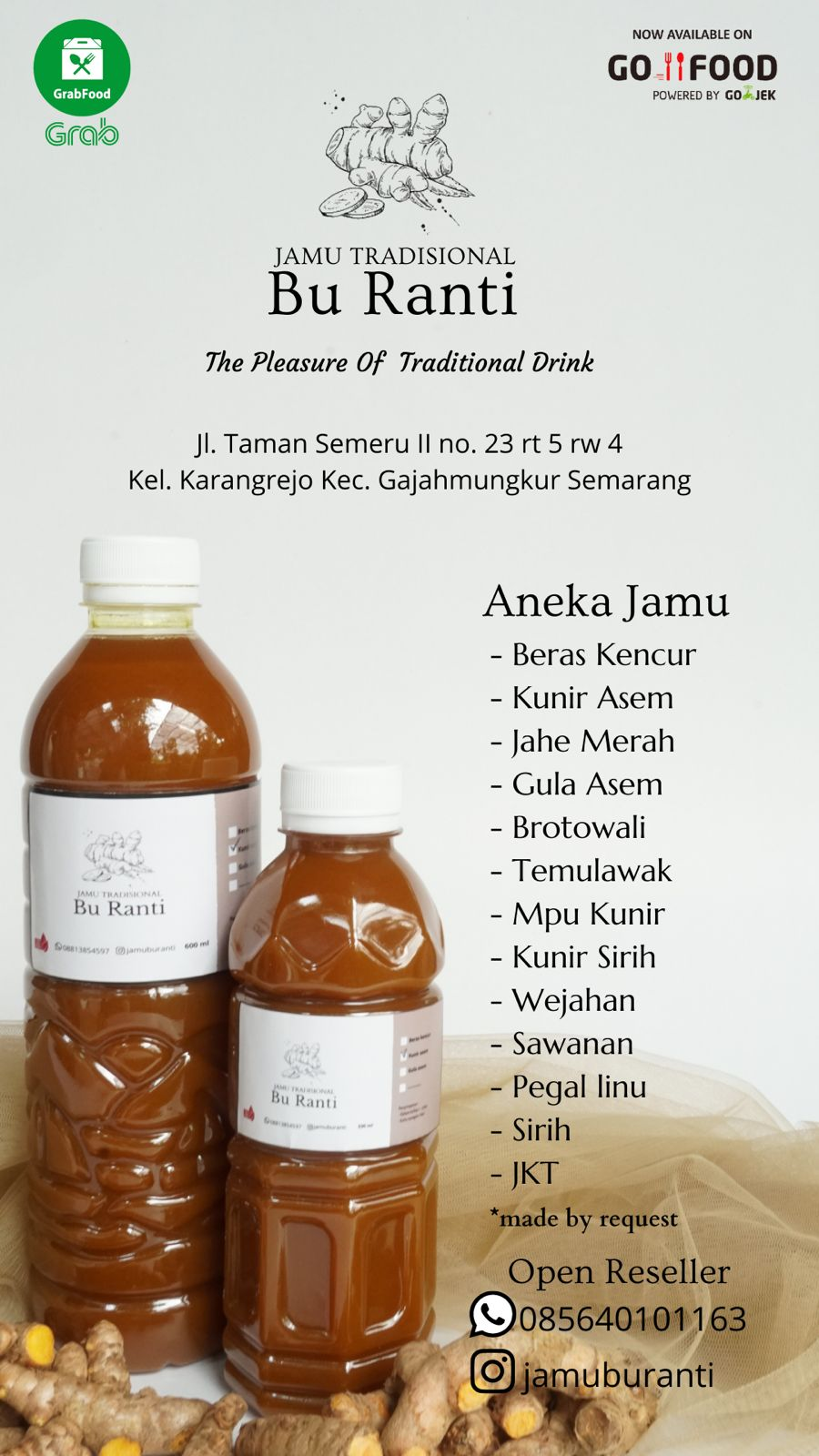 Jamu Made by Request 1 liter